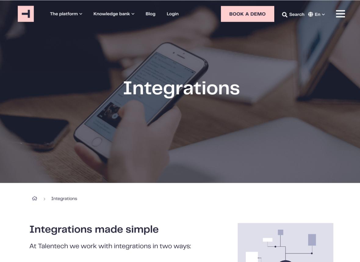 Talenttech-integrations